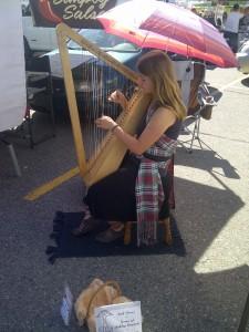 Ashley at the Kelowna Farmer's Market