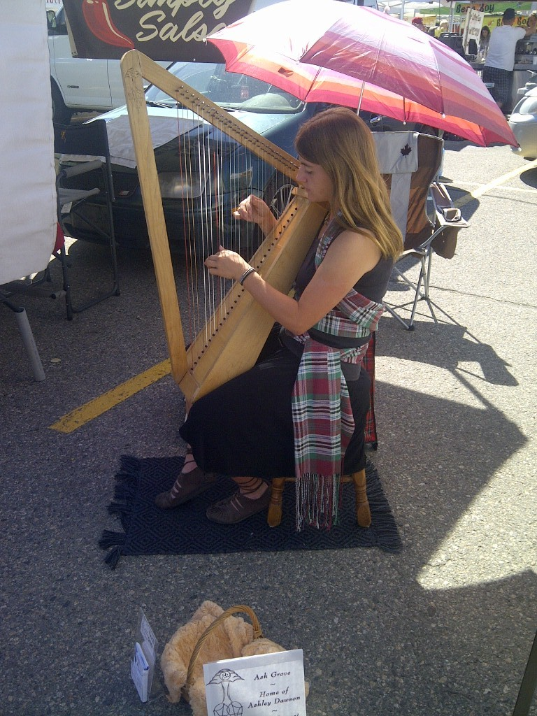 Ashley at the Kelowna Farmer's Market