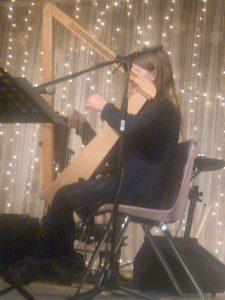 Ashley playing at Victory Life Fellowship Christmas Dinner 2015